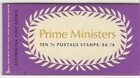 B137 70C Prime Ministers Booklet muh