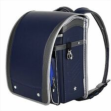 New Coulomb Randoseru 2017 Model Navy Fashionable Design Onetouch lock JAPAN F/S