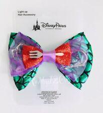 Disney Parks Light Up The Little Mermaid Ariel Minnie Bow Hair Clip Accessory