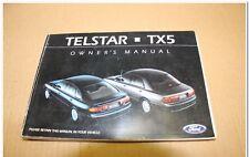 Ford AX Telstar TX5 Ghia 1992 1993 1994 Sedan Hatch Owners Manual Book Handbook