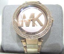 Michael Kors Parker Mother of Pearl Dial Ladies Watch MK6530 Chrystal Bezel $275
