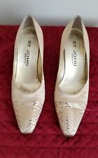 St. John Pumps Italian Gold Silk Vintage Special Occasion Heels Size 7