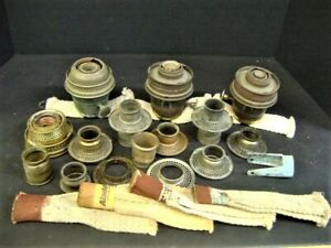 LOT OF 3 GOOD ALADDIN OIL LAMP BURNERS AND OTHER PARTS