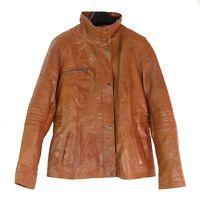 Rockhill Leather Fashion Damen Leder Jacke Bikerjacke cognac braun Gr.44 46