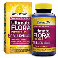 Renew Life Women's Complete Ultimate Flora Probiotic 90 Billion 30 Capsules