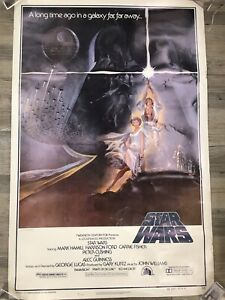 1977 ORIGINAL Authentic Star Wars  Movie Poster, Type A, 27x41, nice!