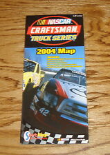 Original 2004 Toyota NASCAR Craftsman Truck Series Map Brochure 04