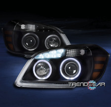 FOR 2005-2010 CHEVY COBALT HALO LED PROJECTOR HEADLIGHTS LAMPS BLACK LEFT+RIGHT