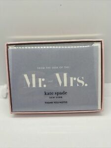 "KATE SPADE Thank You Notes - Set Of 10. ""From the Desk Of The Mr. & Mrs."" NEW!!"