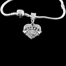 Mother bracelet   Mother Crystal Heart charm bracelet  Mother best jewelry gift
