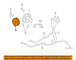 FORD OEM Pump Steering Pump-Pulley XW4Z3A733BA