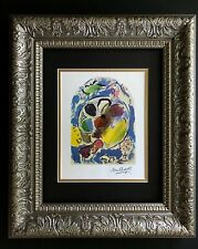 MARC CHAGALL ORIGINAL 1967 SIGNED WINDOW OF BENJAMIN PRINT MATTED 11X14