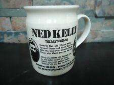 VINTAGE NED KELLY COFFEE MUG-REWARD POSTER-1970'S-AUSTRALIAN BILLY MUG-RARE