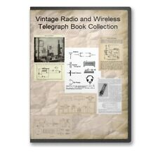 Vintage Radio + Wireless Telegraph Manuals  How To & Plans 17 Books on CD - B503