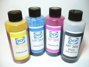 HP 364 CARTRIDGE REFILL KIT TOP GERMAN MADE + Syringes GENUINE OCP INK
