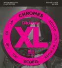 D'Addario ECB81S Chromes Bass Guitar Strings, Light, 45-100, Short Scale for sale