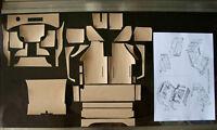Pocher ferrari testarossa 1/8 coupe adhesive upholstery TAN hornby aventador cmc