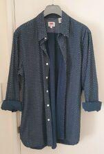 LEVIS Men's Blue Slimfit Shirt Size M