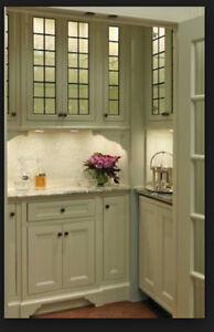 Classic Lead glass Cabinet  & Kitchen  door inserts SGDK 3310