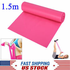 1.5m Yoga Resistance Band Elastic Stretch Band Physical Therapy Exercise Fitness
