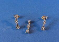 10K Yellow Gold Pendant & Earring Set - 9 Diamonds - SIGNED
