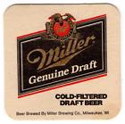 Vintage Cardboard Coaster (1)Collectible Miller Genuine Draft Cold Filtered 120A
