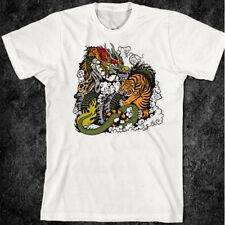 Samurai T-Shirt Bushido Japanese Hattori Katana Sword Ninja Dragon Tiger