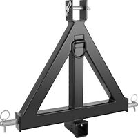 3 Point 2 Receiver Trailer 44lbs Tow Hitch Category 1 Attachment Tractor
