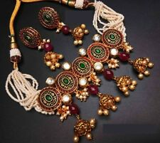 Indian Jewelry Necklace Set Bollywood Ethnic Gold Plated Traditional