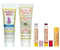 Burt's Bees Set: Cleansing Creams, Lip Shimmers, & Lip Balm LOT of 5