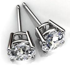 Round Cut 4.00 ct Diamond Stud Fine 14Kt White Gold Earring VVS1/D Color 3080