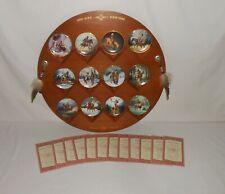 Hamilton Collection Mystic Warrior Mini Plate Complete Collection Coas & Display