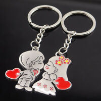 CO_ 2x Bride Groom Metal Keyring Key Chain Ring Couple Valentine's Day Gift Eyef