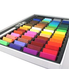 Non Toxic Square Chalk Soft Pastel Drawing Painting Art Assorted Colors 64 Pack