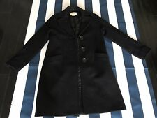 🔥🔥Michael Kors Trench Coat Big Button Black | 🔥Size 2 🔥Women Wool Blend🔥🔥