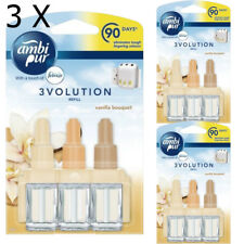 3 X AmbiPur Febreze 3Volution Refills 20ML -  VANILLA BOUQUET