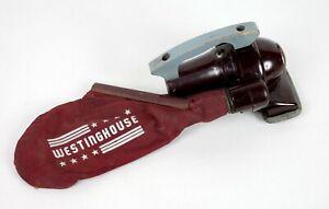 Cool Vintage Westinghouse Hand Vacuum Bakelite Body Wooden Handle Empire Look