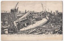 Kowloon; French Destroyer SS Fronde, Damaged by Typhoon 18-9-1906 PPC Unposted