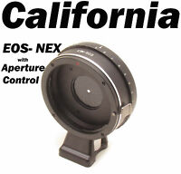 Canon EOS EF lens to Sony NEX-7 NEX-5 NEX-3 Built in Aperture Mount Adapter VG10