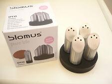 Blomus Ovo Set 4 Salzstreuer inkl. Tablett Edelstahl 63670 Neu + OVP Geschenk