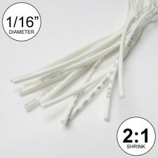 "(25 FEET) 1/16"" White Heat Shrink Tubing 2:1 Ratio Wrap inch/foot/ft/to 1.5mm"