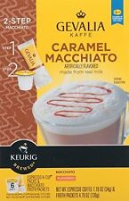 Gevalia Caramel Macciato Coffee 2-Step K-Cup Froth Packet 6 Ct 5.6oz (1 Box)