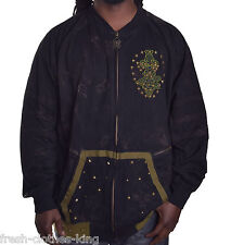 Blac Label Men's $125 Designer Logo Studded Full Zip Jacket Size 2XL