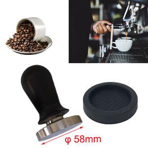 φ58mm Edelstahl Kaffee Tamper Kaffeestampfer Edelstahl Espresso Tamper Mit Matte