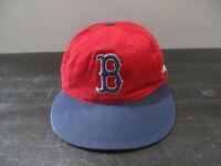 Boston Red Sox Hat Cap Red Blue MLB Baseball Strap Back Adjustable Mens