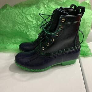 NEW-RARE L.L. Bean Duck Boots BLUE/GREEN WMNS 8 Fits Like 9.5 - SMALL BATCH