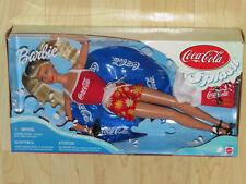 Barbie Coca-Cola Splash With Inner Tube, T-Shirt, Bottle & Case #25590 NISB