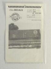 NOS O Scale PROTOCALS Authentic Railroad Decals C&EI 40' BOX CAR SET #B-17