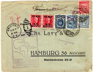 COLOMBIA - CANAL ZONE - GERMANY - SCADTA + PAA COVER - BOGOTA to HAMBURG - 1930