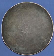 Vintage Small Floral Metal Pedestal Bowl